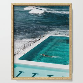 Bondi Icebergs Club I art print Serving Tray
