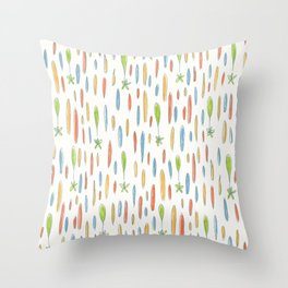 Multicolor Rainfall pattern Throw Pillow