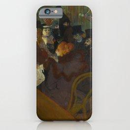 Henri de Toulouse-Lautrec - At the Moullin Rouge iPhone Case