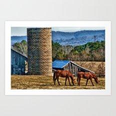 Virginia Horse Farm Art Print