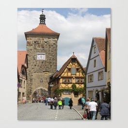 Rothenburg ob der Tauber Impression Canvas Print