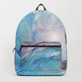 A Woven Basket Case - Electrified In Blue Backpack