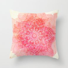 Pink Watercolor Mandala #lifestyle #society6 Throw Pillow