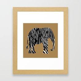 Zebra Elephant Safari Framed Art Print