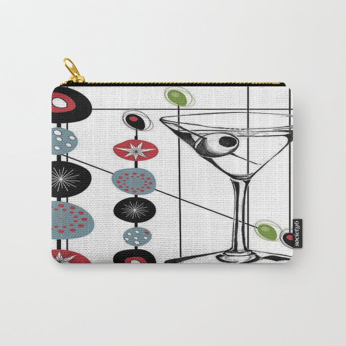 Mid-Century Modern Art Atomic Cocktail 3.0 Carry-All Pouch