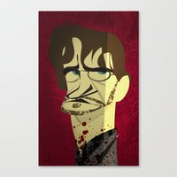 will graham Canvas Prints featuring Will Graham by nachodraws