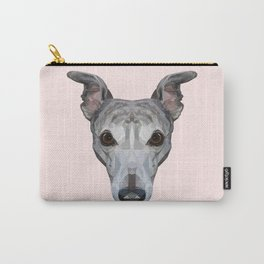 Whippet // Pastel Pink Carry-All Pouch
