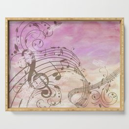 Music Notes Flutter 2 Serving Tray