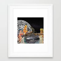 pagan Framed Art Prints featuring Pagan Circle by Marina Poison