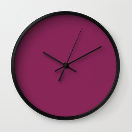 Dark Raspberry - solid color Wall Clock