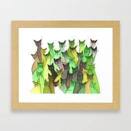 Lebanon Many Whimsical Cats Framed Art Print