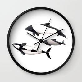 Commerson´s dolphins Wall Clock