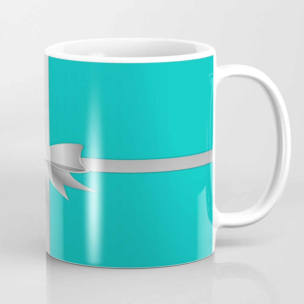 Blue Gift Box Mug by Umeimages MUG7950630