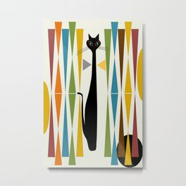 Mid-Century Modern Art Cat 2 Metal Print