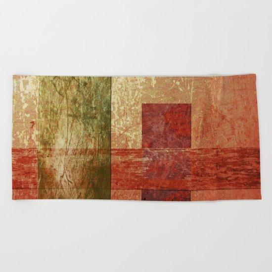 Converge, Abstract Grunge Art Beach Towel