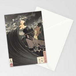 Tsukioka Yoshitoshi - Moon above the sea Stationery Cards