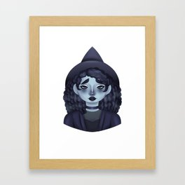 The Gloomy Witch Framed Art Print