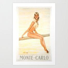 Monte-Carlo Chic Art Print