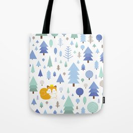 The fox in the winter forest Tote Bag