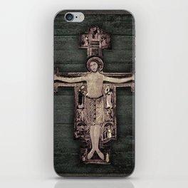 Medieval Style Jesus Christ on Cross Sculpture Artwork iPhone Skin