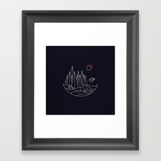 Visit Utopia Framed Art Print