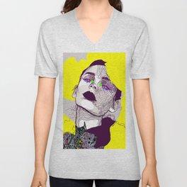 Purple woman Unisex V-Neck