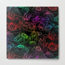 Hanging on the Telephone Metal Print