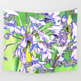 BLUE AGAPANTHUS Wall Tapestry