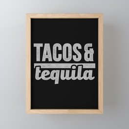 Tacos & Tequila design Taco Mexico Holidays De Mayo Framed Mini Art Print