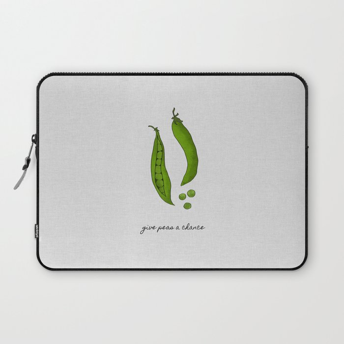 Give Peas A Chance, Kitchen Decor Laptop Sleeve