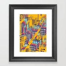 Fragmented Worlds IV Framed Art Print