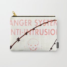 Danger Skull and Bones with Barbed Wire Carry-All Pouch