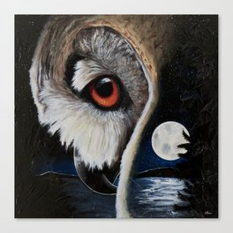 Eagle Owl - The Watcher - by LiliFlore Canvas Print