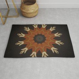 Shaman's Drum // Visionary Art Native American Great Spirit Feather Sacred Geometry Energy Healing Rug