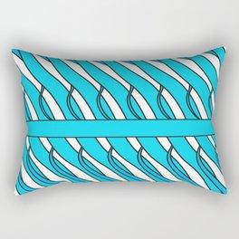 transparent blue color curves Rectangular Pillow