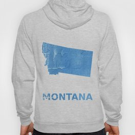 Montana map outline Blue Jeans watercolor Hoody