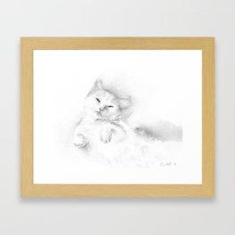 Playful Cat II Framed Art Print