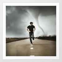running Art Prints featuring Running by Jovana Rikalo