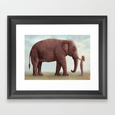 One Amazing Elephant - Back Cover Art Framed Art Print