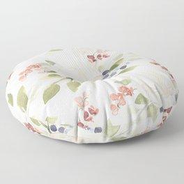 Watercolor ranunculus - Watercolor floral pattern Floor Pillow