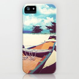 Longboat on the Shore, Thailand iPhone Case