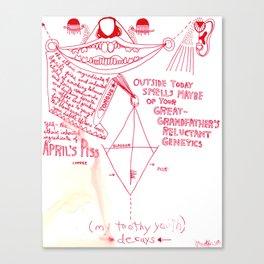 April's Piss Canvas Print