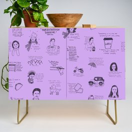 Gilmore Girls Quotes in Purple Credenza
