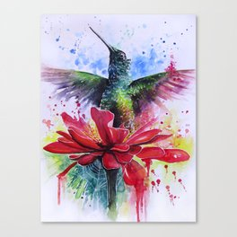 Rising from a Flower Canvas Print