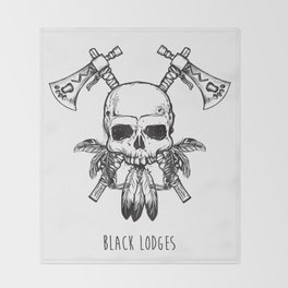Tomahawk Skull Throw Blanket