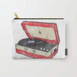 Vintage Record Player Carry-All Pouch