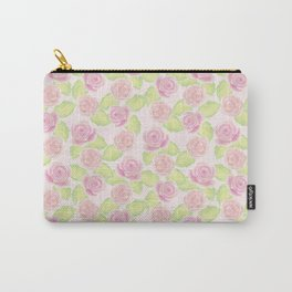 Rose & Peony Watercolour Pattern Carry-All Pouch