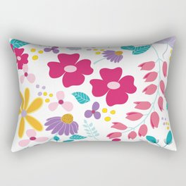 field of flowers by adriana carusi-diliberto Rectangular Pillow