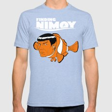 Finding Nimoy Mens Fitted Tee LARGE Tri-Blue
