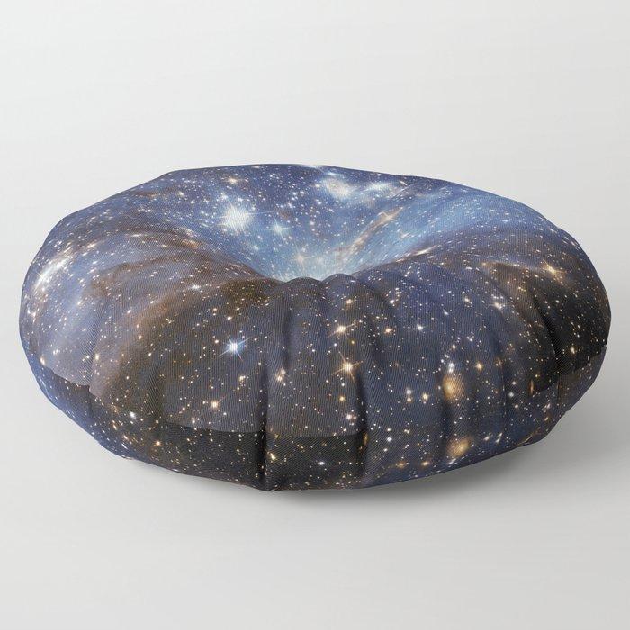 LH 95 stellar nursery in the Large Magellanic Cloud (NASA/ESA Hubble Space Telescope) Floor Pillow